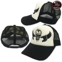 Mesh cap Skull headband,