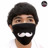 Fashionable fabric Mustache