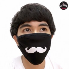 Fashionable fabric Mustache
